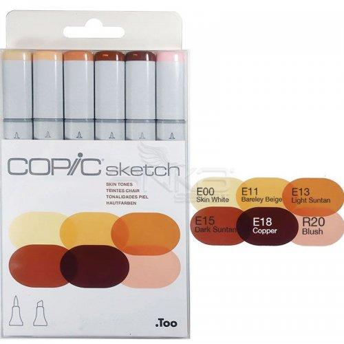 Copic Sketch Marker 6lı Set Skin Tones