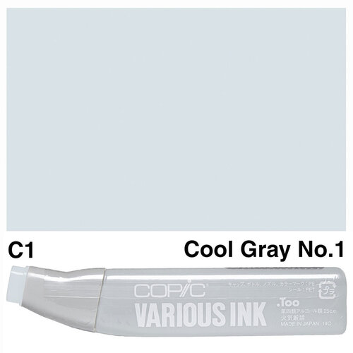 Copic Various Ink C-1 Cool Gray No.1 - C1 COOL GRAY