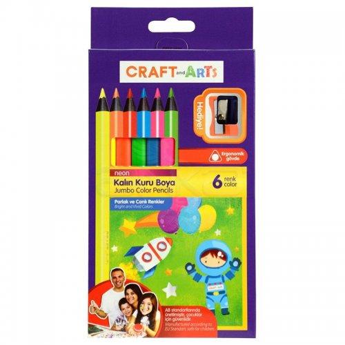Craft&Arts Kuru Boya Jumbo Neon 6lı
