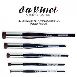 Da Vinci 132 Seri Midilli Kılı Yuvarlak Silindir Uçlu Pastel Fırçası - Thumbnail