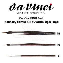 Da Vinci 5519 Seri Kolinsky Samur Kılı Yuvarlak Uçlu Fırça - Thumbnail