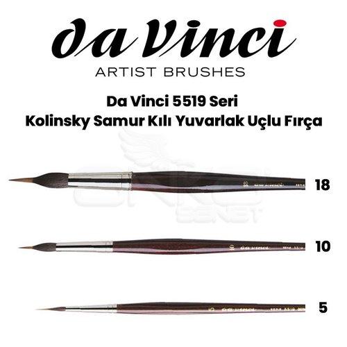Da Vinci 5519 Seri Kolinsky Samur Kılı Yuvarlak Uçlu Fırça