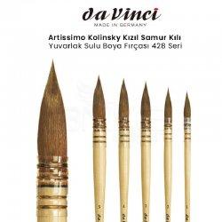 Da Vinci - Da Vinci Artissimo Kolinsky Kızıl Samur Kılı Yuvarlak Sulu Boya Fırçası 428 Seri