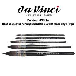 Da Vinci - Da Vinci Casaneo Ekstra Yumuşak Sentetik Yuvarlak Sulu Boya Fırçası Seri 498