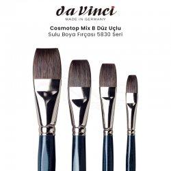 Da Vinci - Da Vinci Cosmotop Mix B Düz Uçlu Sulu Boya Fırçası 5830 Seri