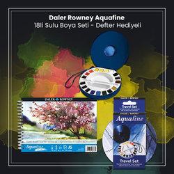 Daler Rowney - Daler Rowney Aquafine 18li Sulu Boya Seti Defter Hediyeli (2) (1)