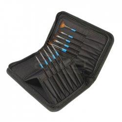 Daler Rowney - Daler Rowney Aquafine Classic Brush Zip Cases Samur Sentetik Fırça Seti 10lu 282300110 (1)