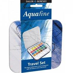 Daler Rowney - Daler Rowney Aquafine Sulu Boya Travel Set Yarım Tablet 24lü (1)