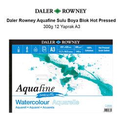Daler Rowney - Daler Rowney Aquafine Sulu Boya Blok Hot Pressed 300g 12 Yaprak A3