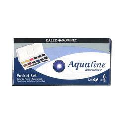Daler Rowney - Daler Rowney Aquafine Pocket Sulu Boya Seti 12li 1/2 Tablet (1)