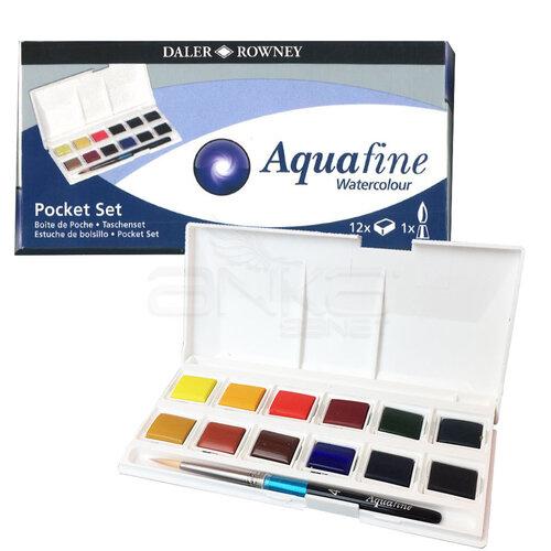 Daler Rowney Aquafine Pocket Sulu Boya Seti 12li 1/2 Tablet