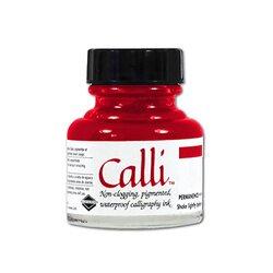 Daler Rowney - Daler Rowney Calli Kaligrafi Mürekkebi 073 Scarlet 29.5ml