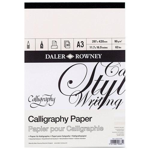Daler Rowney Calligraphy Paper Kaligrafi Kağıdı 90g 30 Yaprak
