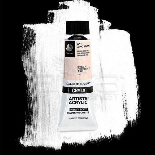 Daler Rowney Cryla Artist Akrilik Boya 75ml 001 Zinc White Seri A - 001 Zinc White
