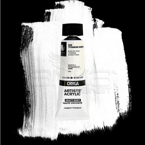 Daler Rowney Cryla Artist Akrilik Boya 75ml 009 Titanium White Seri A - 009 Titanium White