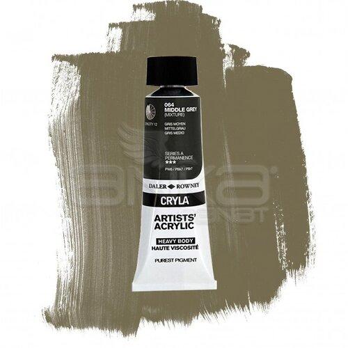Daler Rowney Cryla Artist Akrilik Boya 75ml 064 Middle Grey Seri A - 064 Middle Grey