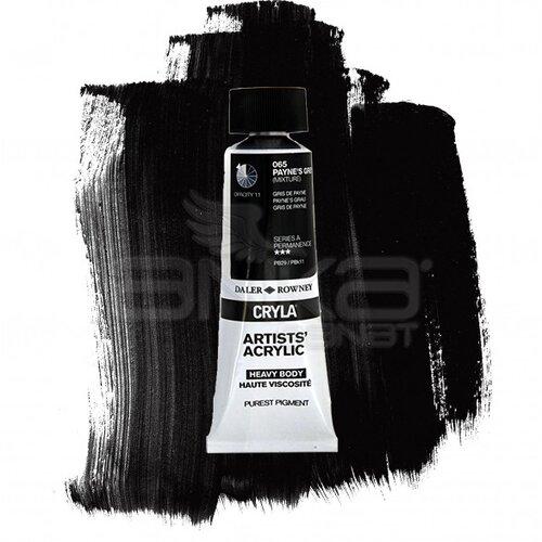 Daler Rowney Cryla Artist Akrilik Boya 75ml 065 Paynes Grey Seri A - 065 Payne's Grey