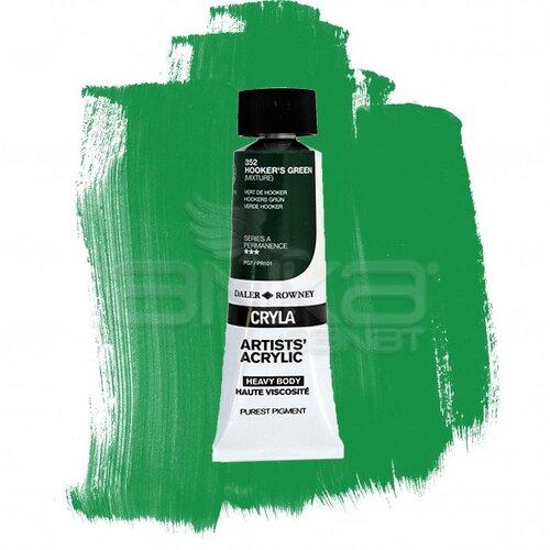 Daler Rowney Cryla Artist Akrilik Boya 75ml 352 Hookers Green Seri A - 352 Hooker's Green