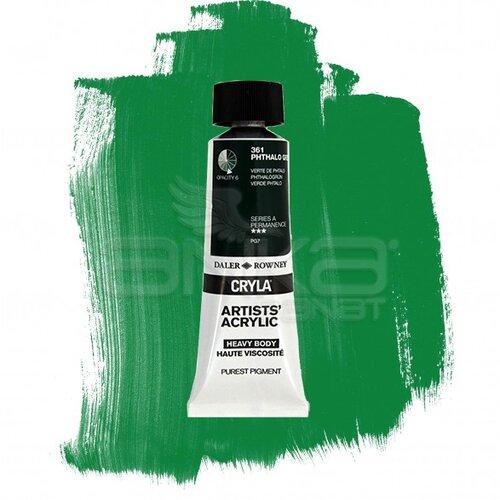 Daler Rowney Cryla Artist Akrilik Boya 75ml 361 Phthalo Green Seri A - 361 Phthalo Green