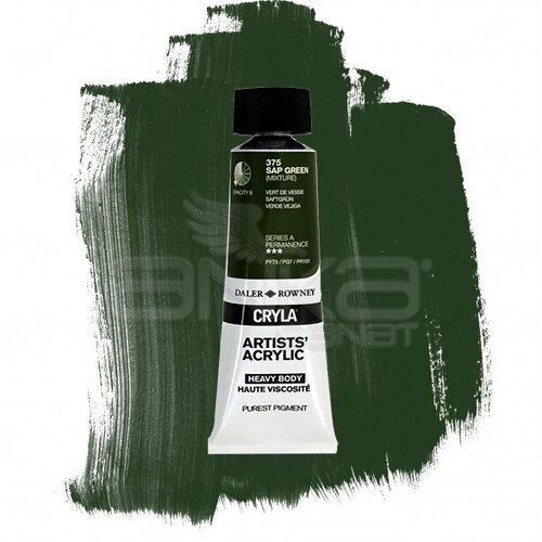 Daler Rowney Cryla Artist Akrilik Boya 75ml 375 Sap Green Seri A - 375 Sap Green