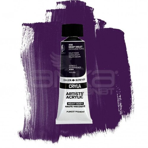 Daler Rowney Cryla Artist Akrilik Boya 75ml 408 Deep Violet Seri C - 408 Deep Violet