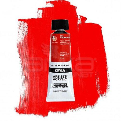 Daler Rowney Cryla Artist Akrilik Boya 75ml 501 Cadmium Red Seri D - 501 Cadmium Red