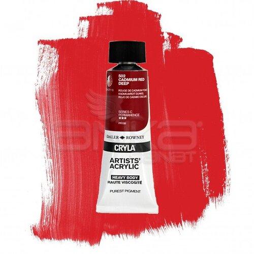 Daler Rowney Cryla Artist Akrilik Boya 75ml 502 Cadmium Red Deep Seri C - 502 Cadmium Red Deep