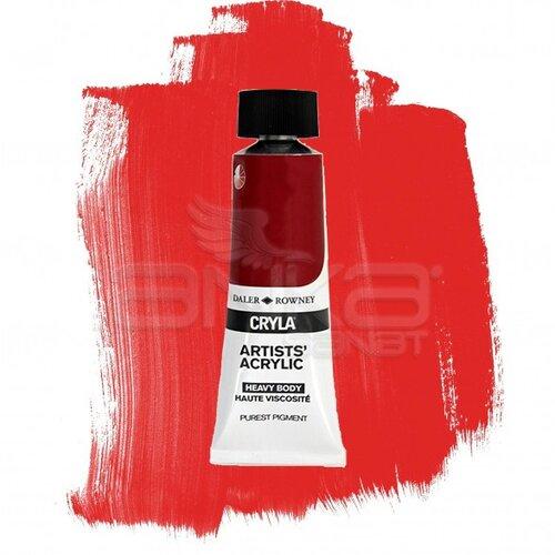 Daler Rowney Cryla Artist Akrilik Boya 75ml 507 Cadmium Scarlet Seri C - 507 Cadmium Scarlet