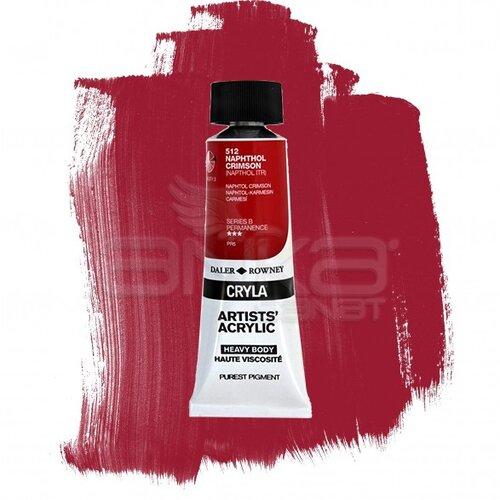 Daler Rowney Cryla Artist Akrilik Boya 75ml 512 Naphthol Crimson Seri B - 512 Naphthol Crimson