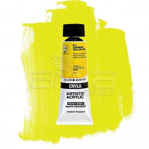 Daler Rowney Cryla Artist Akrilik Boya 75ml 611 Cadmium Yellow Pale Seri C - 611 Cadmium Yellow Pale