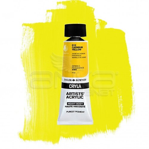 Daler Rowney Cryla Artist Akrilik Boya 75ml 612 Cadmium Yellow Seri C - 612 Cadmium Yellow