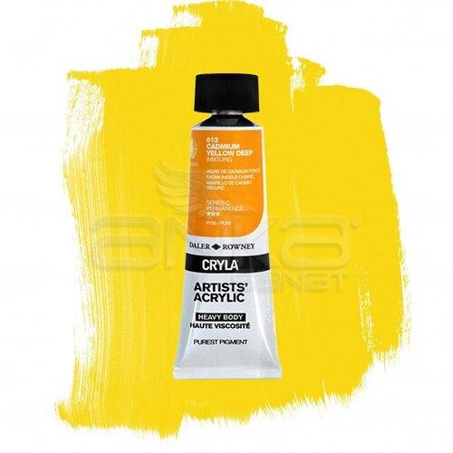 Daler Rowney Cryla Artist Akrilik Boya 75ml 613 Cadmium Yellow Deep Seri C - 613 Cadmium Yellow Deep