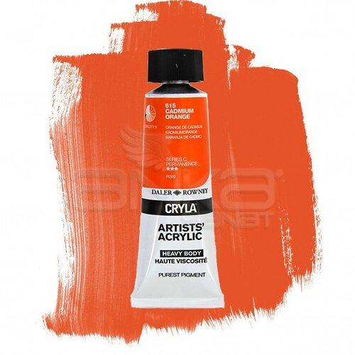 Daler Rowney Cryla Artist Akrilik Boya 75ml 615 Cadmium Orange Seri C - 615 Cadmium Orange