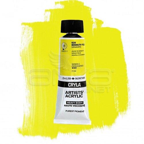 Daler Rowney Cryla Artist Akrilik Boya 75ml 629 Bismuth Yellow Seri C - 629 Bismuth Yellow