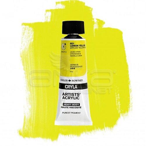 Daler Rowney Cryla Artist Akrilik Boya 75ml 651 Lemon Yellow Seri B - 651 Lemon Yellow