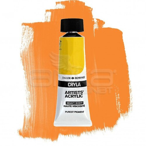 Daler Rowney Cryla Artist Akrilik Boya 75ml 686 Benzimidazolone Orange H5G Seri C - 686 Benzimidazolone Orange H5G