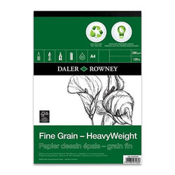 Daler Rowney Fine Grain-HeavyWeight Eco Paper Çizim Defteri 200g 30 Yaprak - Thumbnail