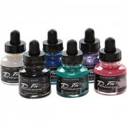 Daler Rowney - DR FW Acrylic Artist Ink 29.5ml 6lı Pearlescent Set 603200006 (1)