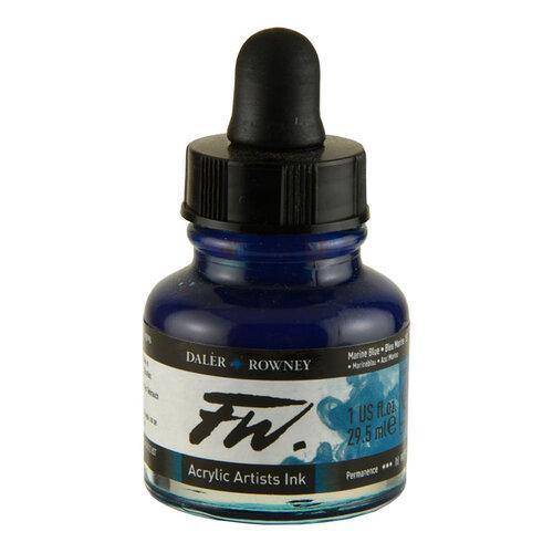 Daler Rowney FW Acrylic Artist Ink 29.5ml Cam Şişe Marine Blue 151 - 151 Marine Blue