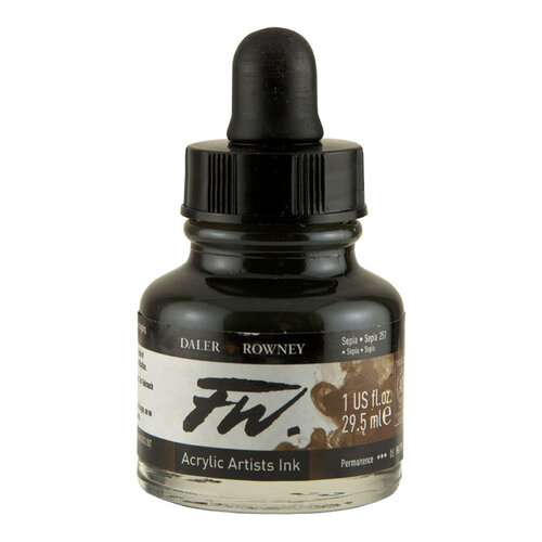 Daler Rowney FW Acrylic Artist Ink 29.5ml Cam Şişe Sepia 251 - 251 Sepia
