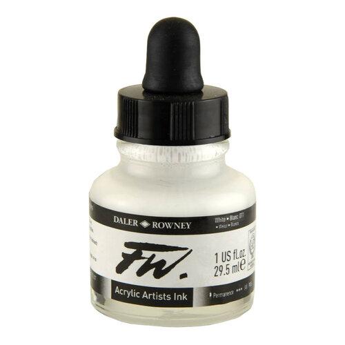 Daler Rowney FW Acrylic Artist Ink 29.5ml Cam Şişe White 011 - 011 White
