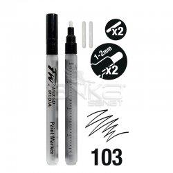 Daler Rowney - Daler Rowney FW Mixed Media Paint Marker Sets 103 1-2mm Yuvarlak Uç (S) (1)