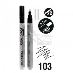 Daler Rowney - Daler Rowney FW Mixed Media Paint Marker Sets 103 1-2mm Yuvarlak Uç (S) (1)