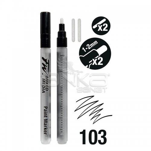 Daler Rowney FW Mixed Media Paint Marker Sets 103 1-2mm Yuvarlak Uç (S)