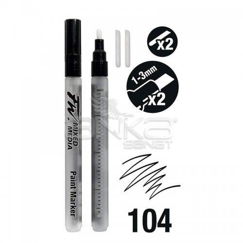 Daler Rowney FW Mixed Media Paint Marker Sets 104 1-3mm Kesik Uç (S)