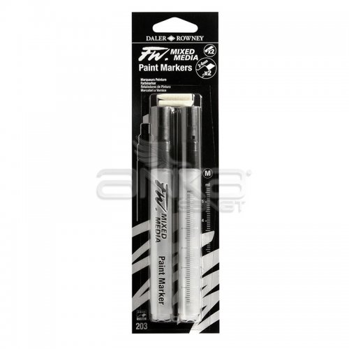 Daler Rowney FW Mixed Media Paint Marker Sets 203 2-6mm Kesik Uç (M)