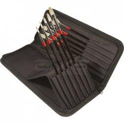 Daler Rowney - Daler Rowney Georgian Brush Classic Zip Cases Uzun Saplı Beyaz Kıl Fırça 10lu 28330010 (1)