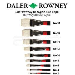Daler Rowney - Daler Rowney Georgian Kısa Uçlu Düz Fırça