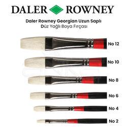 Daler Rowney Georgian Uzun Uçlu Düz Fırça - Thumbnail