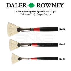 Daler Rowney - Daler Rowney Georgian Uzun Saplı Yelpaze Fırça